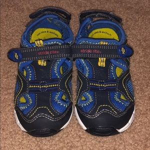 Stride Rite Sandals size 8W navy/blue